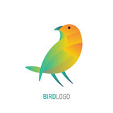 Bird Logo | with golden ratio technique and gradient color