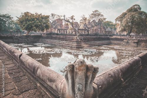 Aluminium Donkergrijs Phanom Rung Historical Park in Buriram, Thailand
