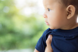 baby with saliva, asian newborn. - 208032064