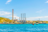 View of Delimara power plant near Marsaxlokk, Malta - 208033028
