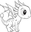 Cute Dragon Vector Illustration Art - 208038257
