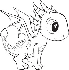 Cute Dragon Vector Illustration Art © Erik DePrince
