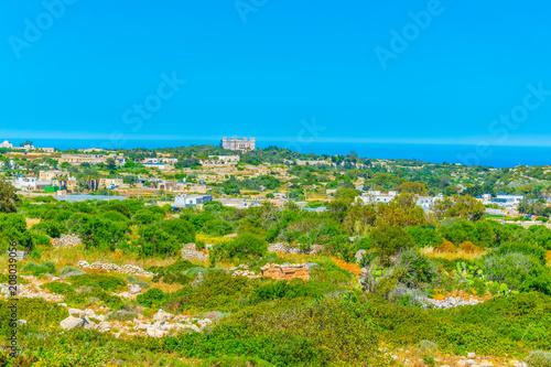 Fotobehang Blauw Countryside on Malta