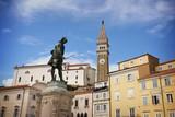 Tartini square in Piran, Slovenia - 208040655