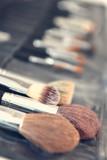 Makeup brushes closeup - 208041627