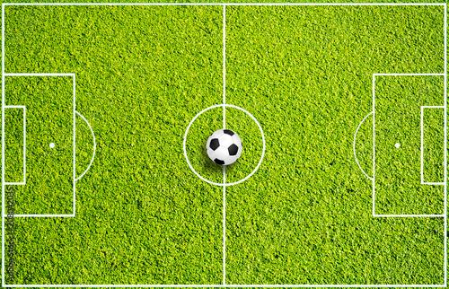 Leinwanddruck Bild Fußballspielfeld