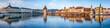 Leinwanddruck Bild - Luzern Stadtpanorama mit Altstadt und Wasserturm, Schweiz