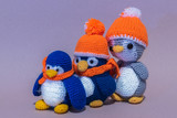 Homemade Three soft color toy penguin. - 208048885