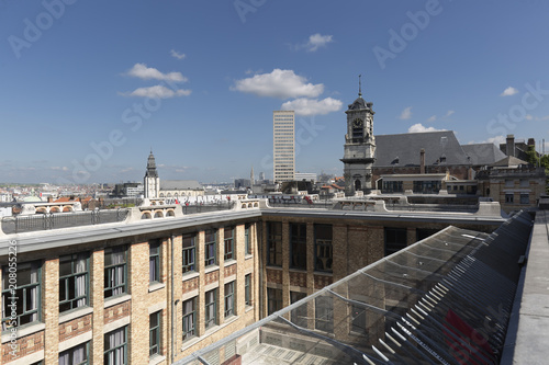Aluminium Brussel Views of the city of Brussels in Belgium.