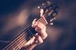 Leinwanddruck Bild - Learning Acoustic Guitar