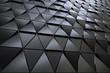 Leinwanddruck Bild - Abstract 3D minimalistic geometrical background of black triangles
