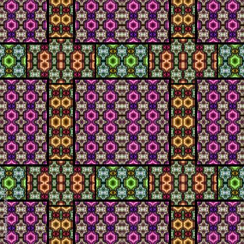 Abstrakt fraktal geometrisch nahtlos muster