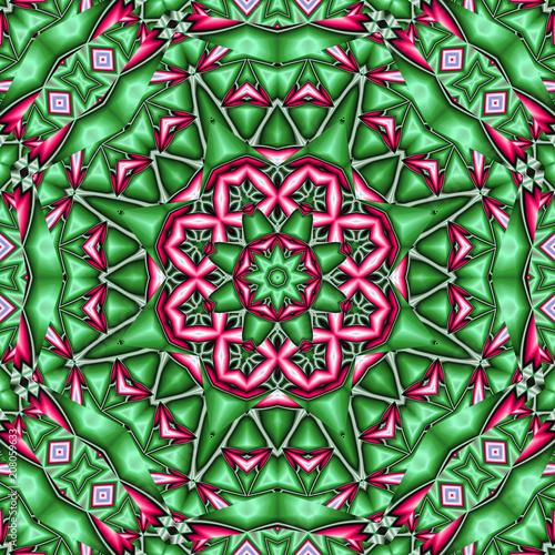 abstrakt fraktal grün pink polygon grafik