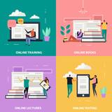 Online Education Flat Design Concept - 208060450