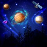 Night Sky Cosmos Composition - 208060697