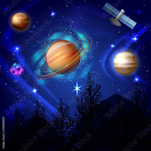 Night Sky Cosmos Composition