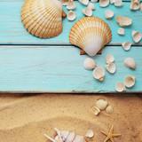 seashells and sand - 208068676