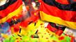 Leinwanddruck Bild - Hintergrund banner header Arena Deutschland