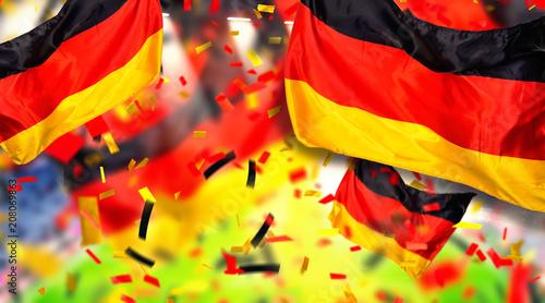 Leinwanddruck Bild Hintergrund banner header Arena Deutschland