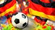 Leinwanddruck Bild - Fussball Deutschland Fans Deutsche