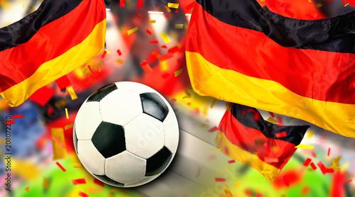 Leinwanddruck Bild Fussball Deutschland Fans Deutsche