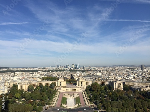 Paris city view from Eiffel tower