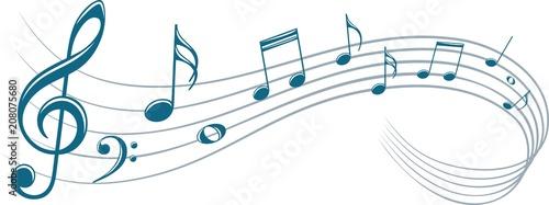 Fotobehang Muziek Symbol with music notes.