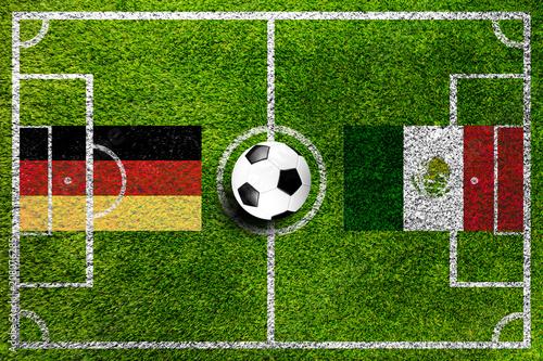 Deutschland gegen Mexico Fußball Weltmeisterschaft