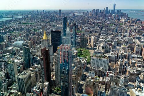 Sticker aerial new york manhattan cityscape