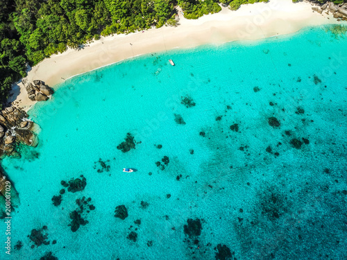 Fototapeten Strand Similan islands from above, Thailand