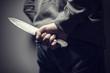 Leinwanddruck Bild - Knife crime