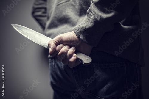 Leinwanddruck Bild Knife crime