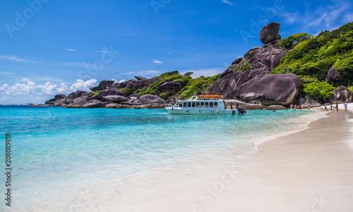 Aluminium Tropical strand Similan islands in Thailand