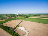 Aerial view of windmill at the countryside - 208099270