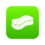 Sponge icon. Simple illustration of sponge vector icon for web - 208102624