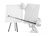 Envelope character with blank whiteboard - 208103278