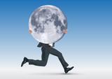 lune - promesse - réussite - succès - concept - symbole - challenge - pouvoir - motivation - motiver