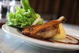 confit de canard , Duck confit with vegetable - 208109271