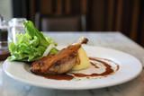confit de canard , Duck confit with vegetable - 208109299