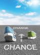Chance nutzen und sich verändern - Konzept seize the opportunity and achieve change