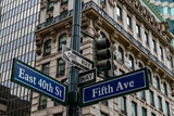 fifth avenue sign new york east 40th street - 208114860