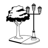 Street lights isolated vector illustration graphic design