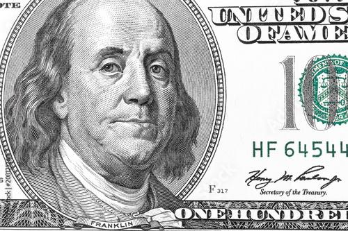 closeup of 100 dollar bill   Buy Photos   AP Images   DetailView