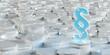 Leinwanddruck Bild - White and blue law icon hexagons background 3D rendering