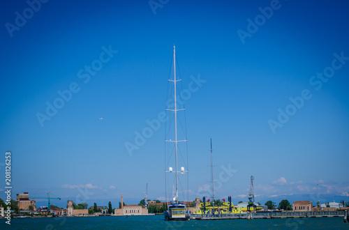 Fotobehang Zeilen luxury yacht in venice
