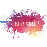French Back to school background