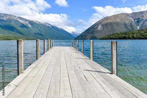 Canvas Pier Nelson Lakes Neuseeland