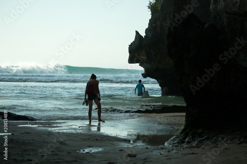 Fototapeta Surf et vague surfer wave