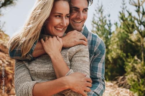 Romantic couple admiring a view