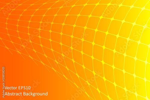 Fotobehang Abstractie Art Orange and yellow abstract vector background